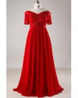 официална рокля в ярко червено от мини до макси размери по поръчка
