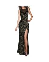 дантелена вечерна рокля с цепка