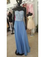 луксозна бална рокля обсипана с кристали и пайети