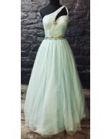 луксозна бална рокля с камъни в 2 гами