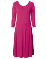 памучна комфортна рокля в розова гама