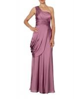 нестандартна маркова официална рокля в аметист