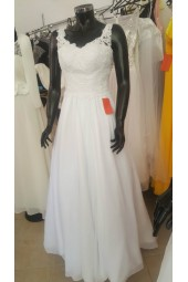 луксозна рокля с дантелено бюстие и декорация от перли