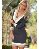 стилна ежедневна бизнес рокля в 2 гами