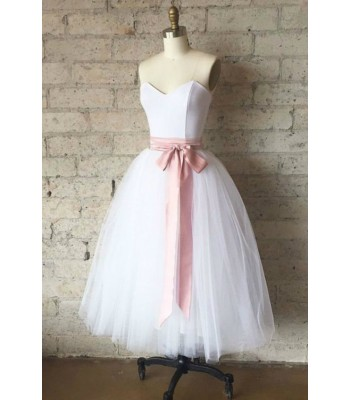 официална рокля от сатен и тюл по поръчка