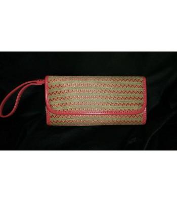 бална чанта с къса дръжка в корал