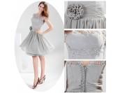 къса бална рокля в опушена гама