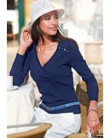 лек марков пуловер в морска гама пролет - лято 2014