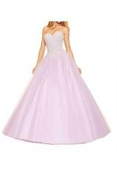 приказна бална рокля с обем в лавандула Бални Рокли Благоевград 2020