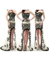 дантелена абитуриентска рокля в 2 гами