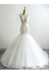 вталена сватбена рокля тип русалка