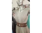 дълга красива официална шаферска рокля в опушена гама