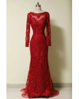 ултра сияеща официална абитуриентска рокля с дантела по поръчка