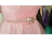 ултра обемна бална рокля с кристално коланче