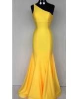 официална рокля от сатен с едно рамо Бални рокли Благоевград 2020