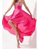дамска вечерна къса или дълга  луксозна абитуриентска рокля 2 в 1