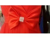 официална бална рокля в ярко червено със собствен обем Благоевград 2020