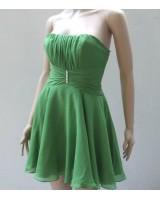 къси шаферски рокли в зелено