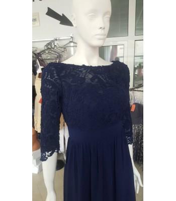 официална рокля с едра дантела в индиго Бални Рокли Благоевград 2020