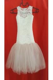 детска шаферска рокля от дантела и тюл