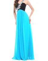 официална рокля с вграден сутиен и дизайн с едно рамо