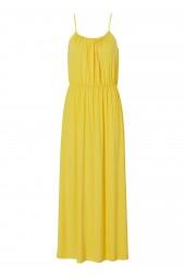 дълга слънчогледова рокля с тънки презрамки от мека вискоза