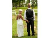 луксозна сватбена бална рокля с холивудски дизайн