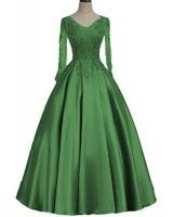 абитуриентска официална рокля с дълги ръкави