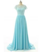 изгодна рокля в цвят по желание декорирана с дантелено бюстие