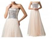 ултра сияеща бална рокля в 2 гами