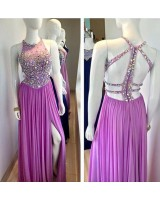 луксозна бална рокля 2019 с нестандартен дизайн и сияеща декорация