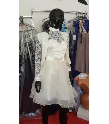 официално сватбено болеро с полупрозрачни ръкави