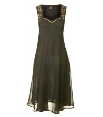 елегантна вечерна рокля обсипана с декорация 48
