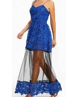 официална рокля в кралско синьо подходяща за всякакъв повод