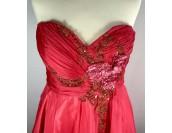 розова официална рокля с 3D цветя 2020 бални рокли