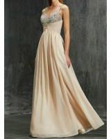 бална рокля от шифон в нежна гама