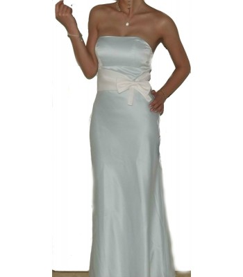 маркова бална рокля висша мода в минт с панделка