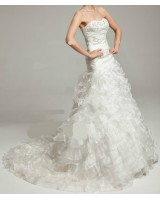 маркова булчинска рокля тип салса в снежно бяло