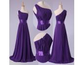 бална рокля с едно рамо в 2 гами