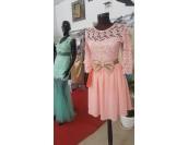 официална рокля с дантела в цвят и размер по поръчка