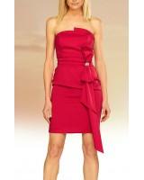 маркова вечерна абитуриентска рокля в червено