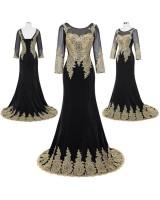 дамска рокля с ръкави подходяща за официални поводи