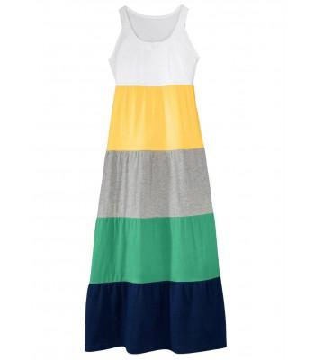 памучна макси рокля в слънчева разцветка