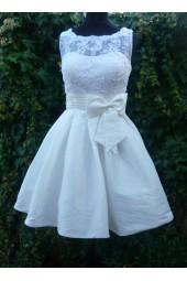 луксозна сватбена рокля от тафта