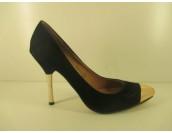 официални елегантни обувки в черно и златисто