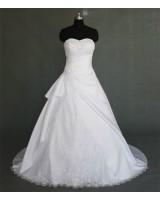 булчинска рокля в макси размери с бродерия от цветя