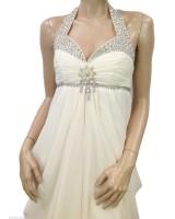 висококачествена рокля с декоративни кристали и гол гръб мини и макси размери