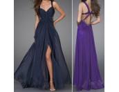бална рокля с нестандартен дизайн и гол гръб
