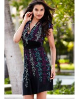 дамска пролетна ежедневна рокля в пастелени цветове