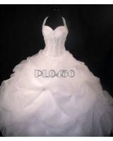 обемна сватбена рокля с богата орнаментация в 2 гами пролет - лято 2014